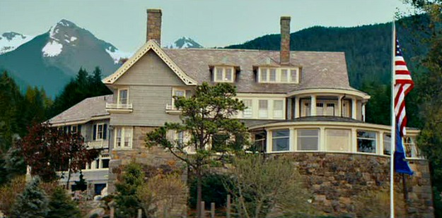 exterior of house from Proposal movie in Sitka Alaska