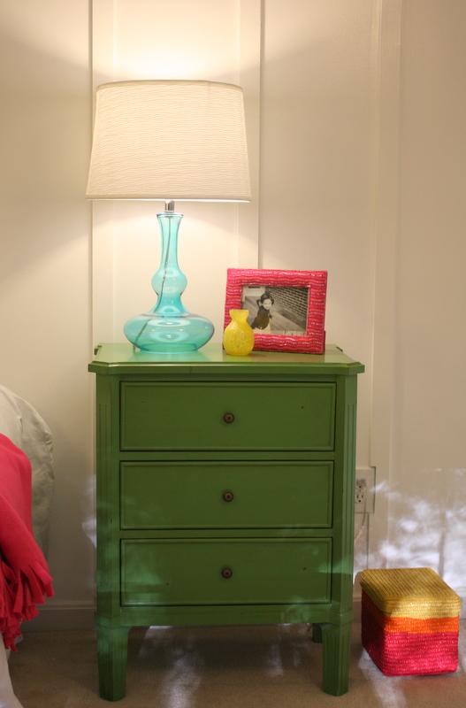 green dresser after playrm makeover