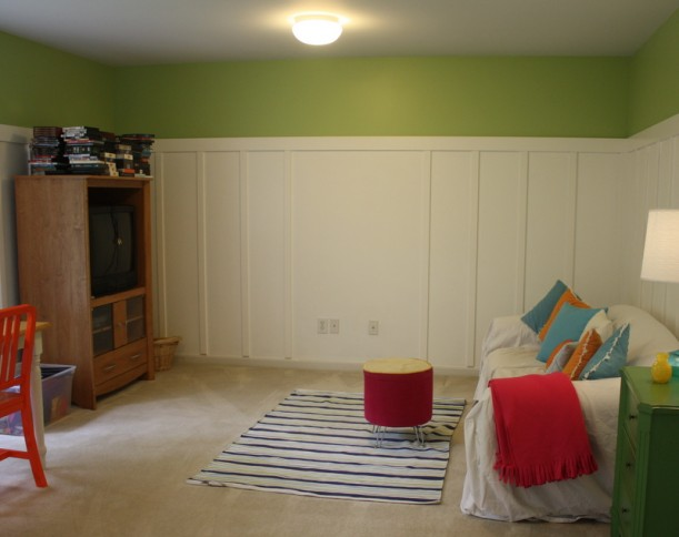 playroom during makeover