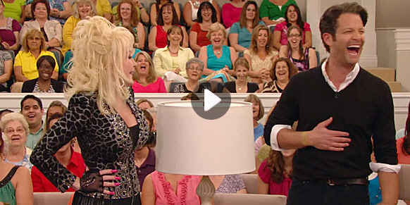 screenshot of Dolly Parton on Nate Berkus's talk show