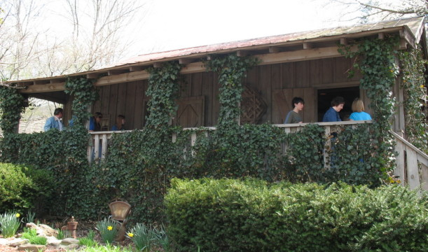 Dolly Parton's childhood home-porch