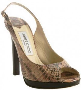 Jimmy Choo-snakeskin shoe