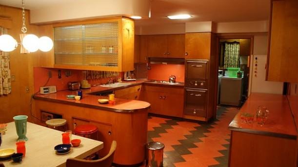 retro kitchen after staging