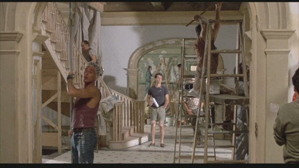working on entry hall