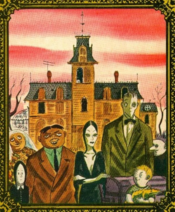 Addams Family cartoon illustration