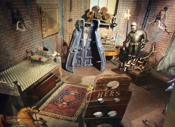 Addams family playroom dungeon in color