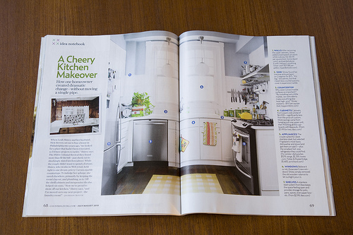 Country Living article on kitchen