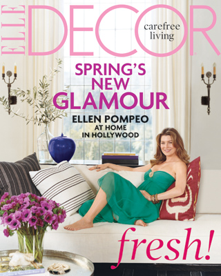 Elle Decor cover-Ellen Pompeo at Home