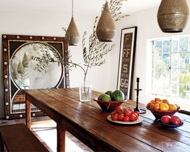 Ellen Pompeo-dining room in Elle Decor