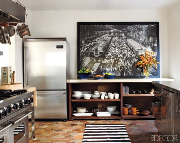 Ellen Pompeo-kitchen in Elle Decor