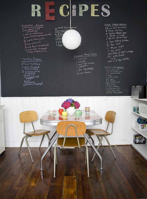 House Obsession-chalkboard in kitchen