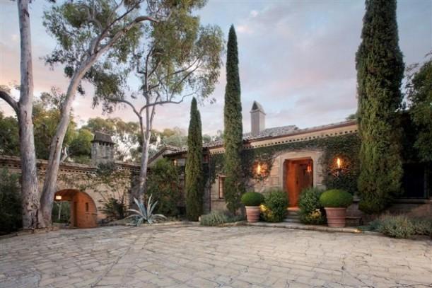 John Saladino's villa in Montecito