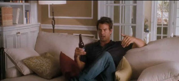 Josh Duhamel on sofa