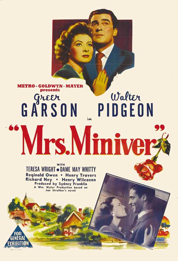 Mrs. Miniver movie poster-Greer Garson