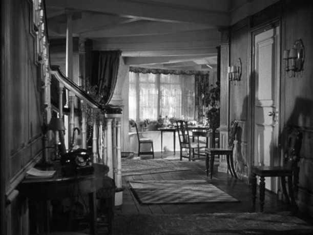 Mrs. Miniver's house-front hall