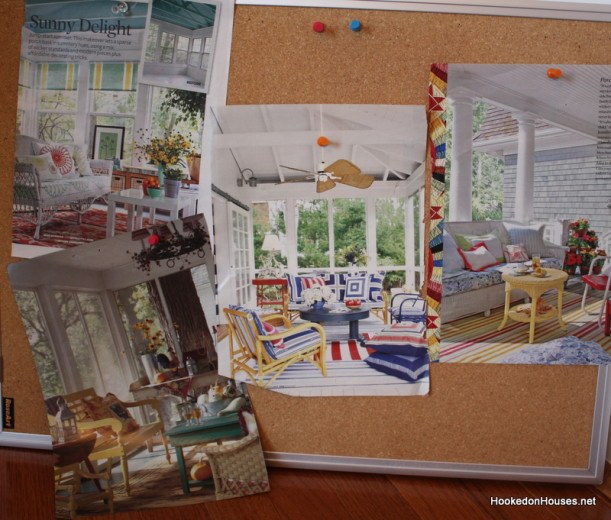 Screened porches-bulletin board