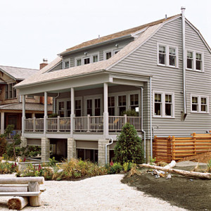 front exterior of Seabrook beach house