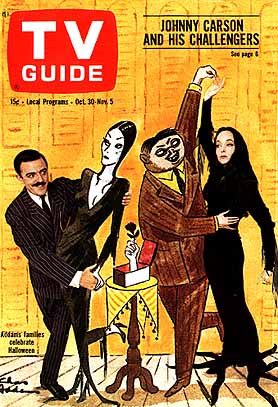 Addams Family on TV Guide Cover 1968