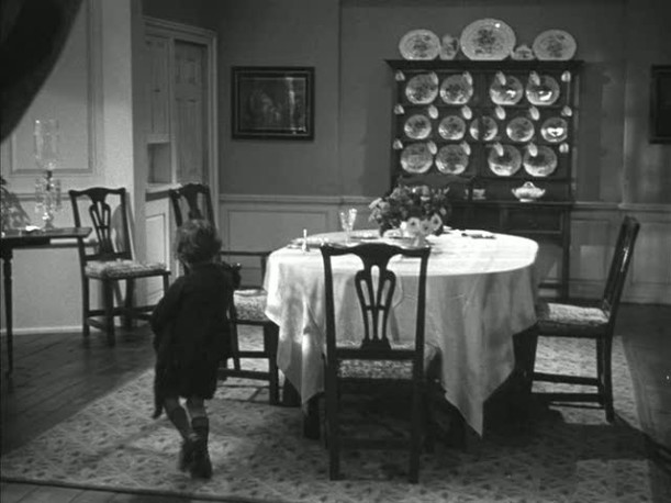 dining room in Mrs. Miniver\'s house