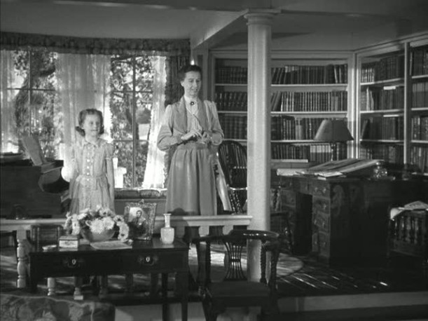 piano room in Mrs. Miniver\'s house