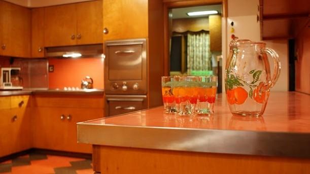 retro kitchen closeup