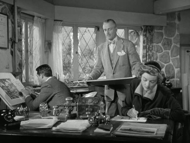 Mr. and Mrs. Blandings-architect's office