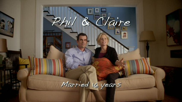 Phil & Claire interview on sofa