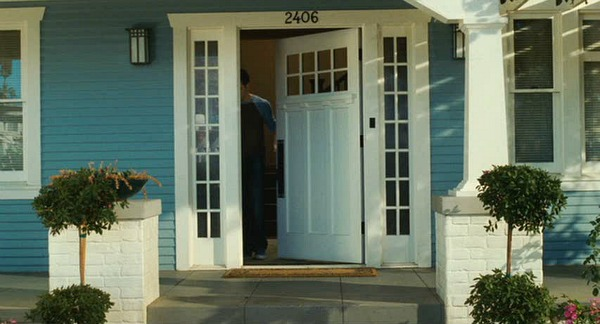 You Me & Dupree blue Craftsman front door