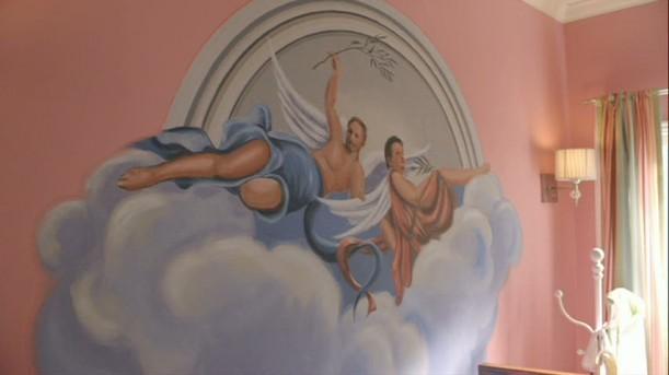 mural in Lily's nursery