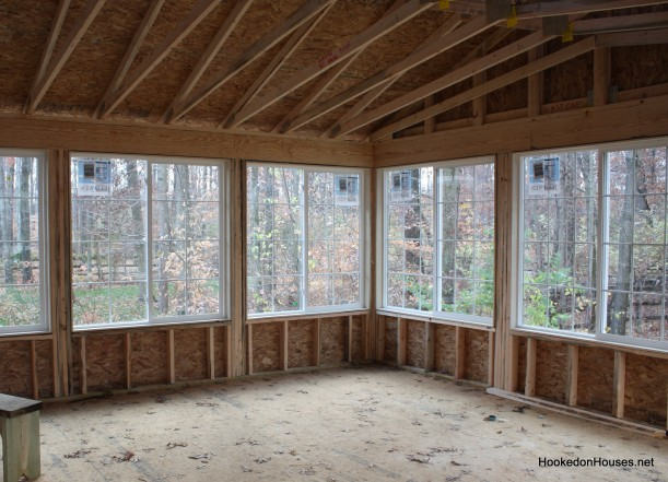 windows in sunroom-corner