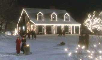 Funny Farm house at Christmas
