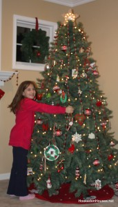 Lily hugs her tree