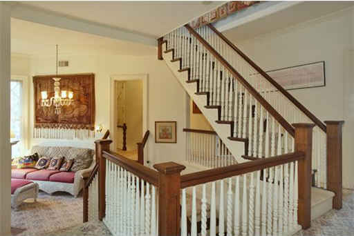 staircase leading to third story in Stepmom house