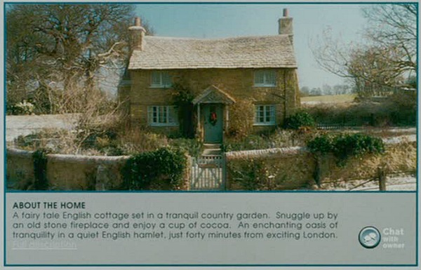 The Holiday movie fairy tale English cottage ad
