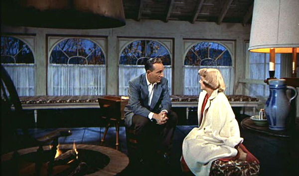 White Christmas Bob and Betty by the fire