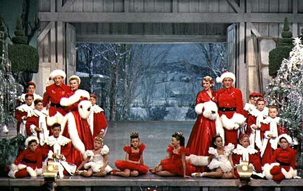 White Christmas show finale snow