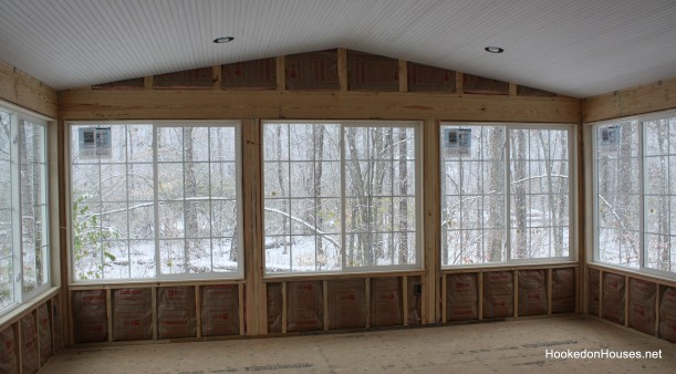 beadboard and insulation in sunroom 12-10
