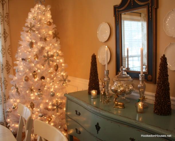 white christmas tree 4