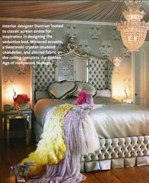 Dita Von Teese-glam bedroom-Instyle