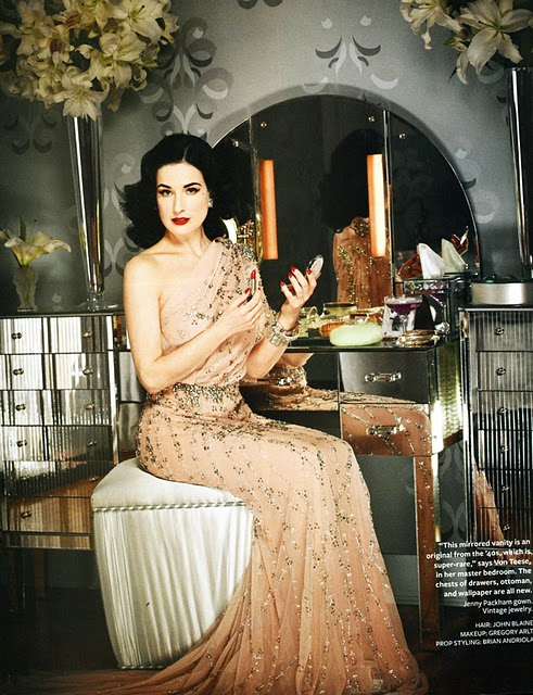 Fix A Sofa Dita Von Teese's Glam Retro Style at Home - Hooked on Houses