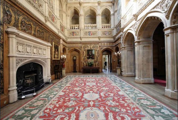 Highclere Castle hall