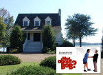 front exterior of lake house in the movie What About Bob
