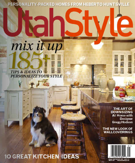 Utah Style magazine cover-Practical Magic kitchen