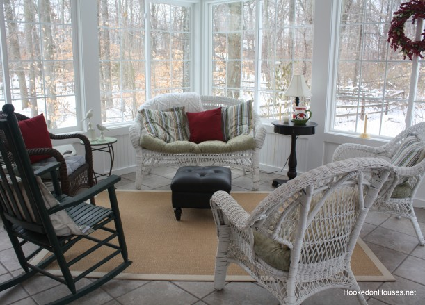 seating area in sunroom