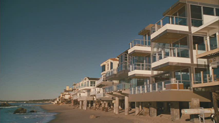 Row of Malibu beach houses from Sex and the City