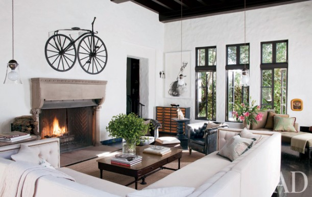 Sheryl Crow's Hollywood House-liv rm-AD