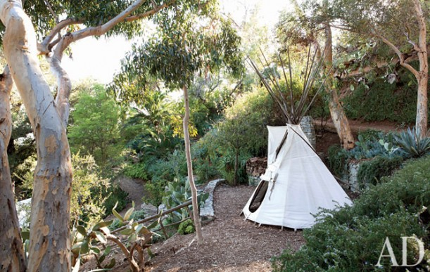tepee in the garden