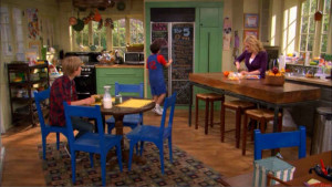 Good Luck Charlie kitchen-blue chairs