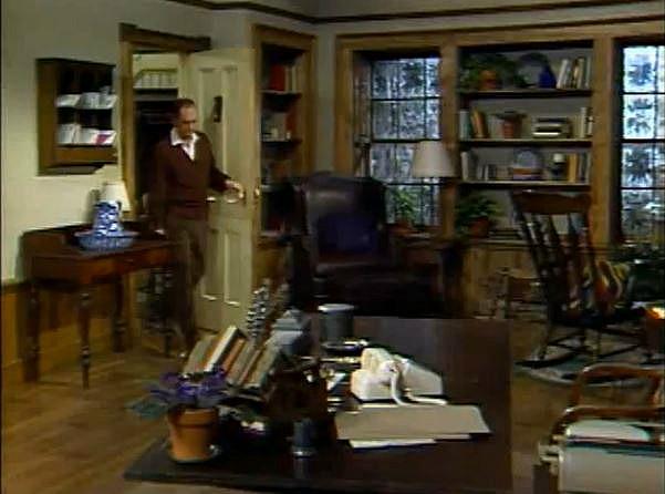 Newhart TV show Bob's study