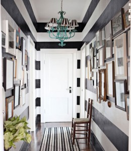 black and white hall-Country Living